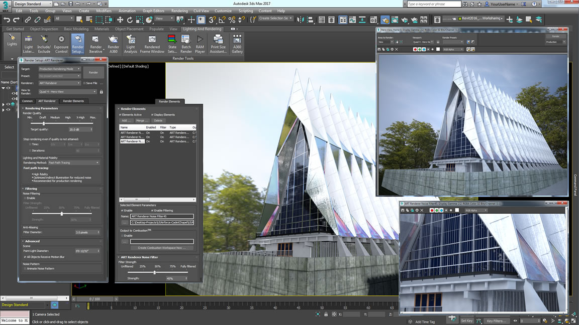 Training and Development 3d Studio Max in architecture and animation