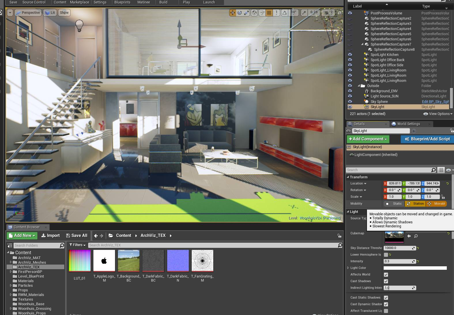 Archviz Unreal Engine and virtual reality training  Create a world!