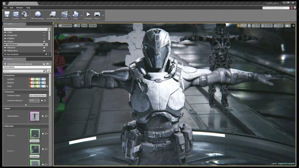 Training on Unreal Engine 3d