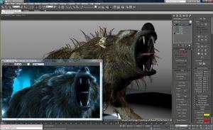 Graphic design on 3d studio max