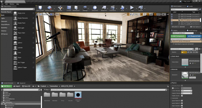 Unreal engine courses for video game developers and 3D renders in Laval, London, Regina, Victoria and Toronto